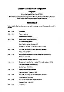 Sudden Cardiac Death Symposium Program. November 6