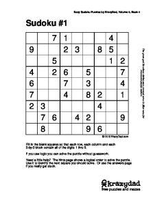 Sudoku #