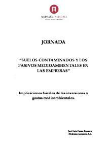 SUELOS CONTAMINADOS Y LOS PASIVOS MEDIOAMBIENTALES EN LAS EMPRESAS