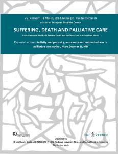 SUFFERING, DEATH AND PALLIATIVE CARE