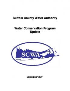 Suffolk County Water Authority. Water Conservation Program Update