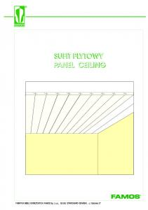 SUFIT P YTOWY PANEL CEILING