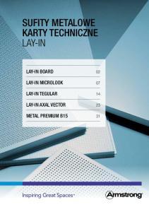 Sufity metalowe Karty techniczne Lay-In