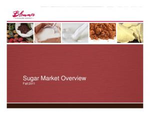 Sugar Market Overview. Fall 2011