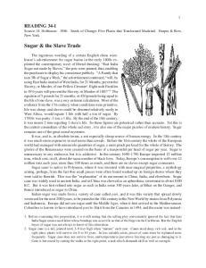 Sugar & the Slave Trade