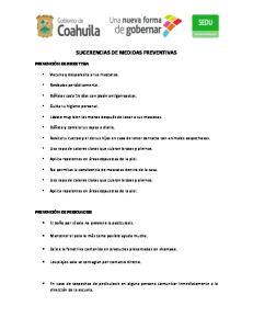 SUGERENCIAS DE MEDIDAS PREVENTIVAS