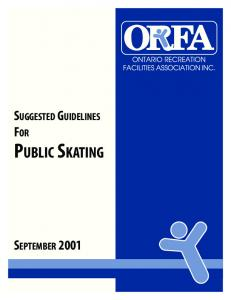 SUGGESTED GUIDELINES FOR PUBLIC SKATING