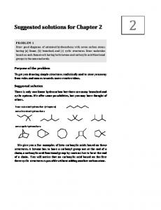 Suggested solutions for Chapter 2