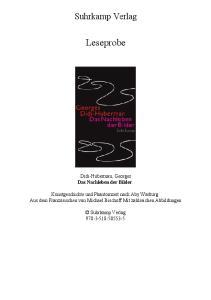 Suhrkamp Verlag. Leseprobe. Didi-Huberman, Georges Das Nachleben der Bilder