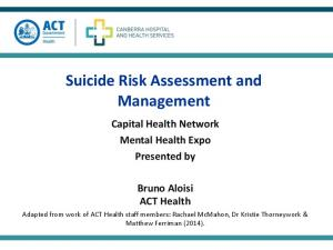 Suicide Risk Assessment and Management