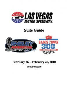 Suite Guide. February 26 February 26,