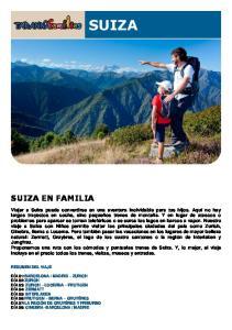 SUIZA EN FAMILIA RESUMEN DEL VIAJE