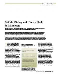 Sulfide Mining and Human Health in Minnesota