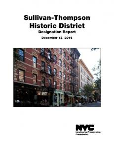 Sullivan-Thompson Historic District Designation Report. December 13, 2016