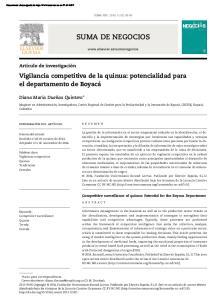 SUMA NEG. 2014; 5 (12): SUMA DE NEGOCIOS