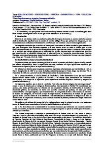SUMARIO: I. - II. - III. - IV V VI VII VIII