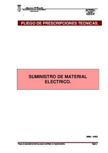 SUMINISTRO DE MATERIAL ELECTRICO