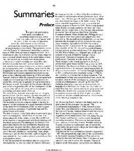 Summaries. Preface. Cinema 11