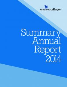 Summary Annual Report 2014