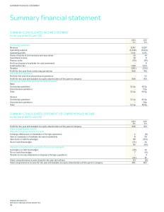 Summary financial statement