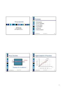 Summary Fuzzy Systems
