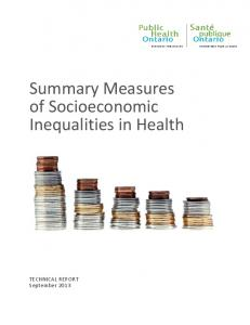 Summary Measures of Socioeconomic Inequalities in Health