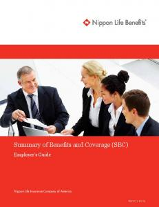 Summary of Benefits and Coverage (SBC)