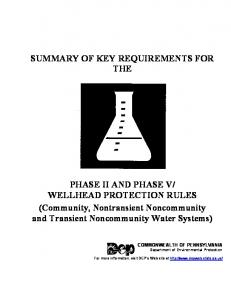 SUMMARY OF KEY REQUIREMENTS FOR THE