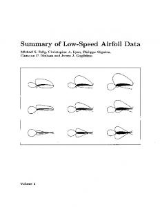 Summary of Low-Speed Airfoil Data