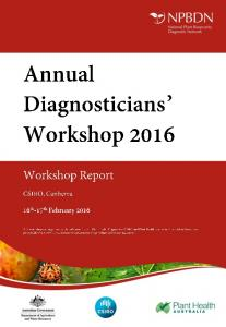 Summary of the Annual Diagnosticians Workshop 2016