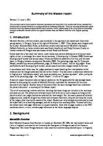 Summary of the Massei report