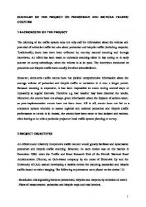 SUMMARY OF THE PROJECT ON PEDESTRIAN AND BICYCLE TRAFFIC COUNTER