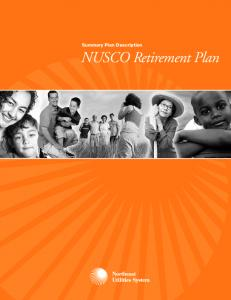 Summary Plan Description. NUSCO Retirement Plan