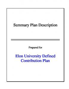 Summary Plan Description
