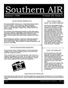 Summer 1998 Volume 20, Issue 3