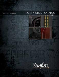 SUMMER 2013 PRODUCT CATALOG