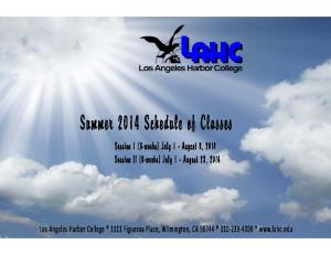 SUMMER 2014 COURSE OFFERINGS