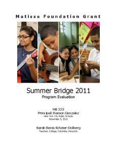 Summer Bridge 2011 Program Evaluation