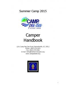Summer Camp Camper Handbook