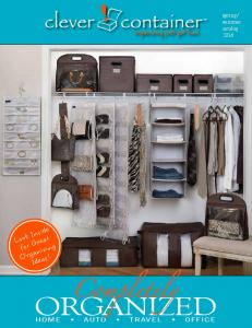 summer catalog 2016 Look Inside for Great Organizing Ideas! Completely ORGANIZED HOME AUTO TRAVEL OFFICE