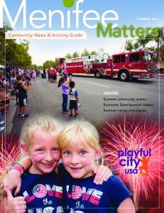 SUMMER Community News & Activity Guide INSIDE: Summer community events Economic Development update Summer camps and classes