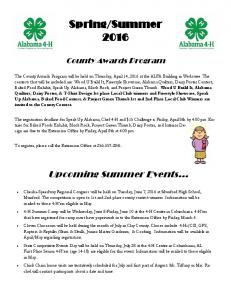 Summer County Awards Program