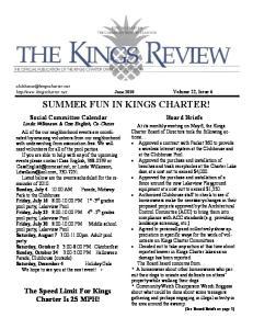 SUMMER FUN IN KINGS CHARTER!