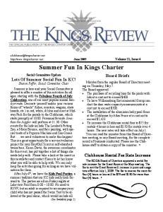 Summer Fun In Kings Charter