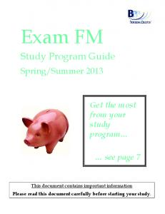 Summer Get the most from your study program. see page 7