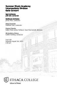 Summer Music Academy Intermediate Division Gala Concert