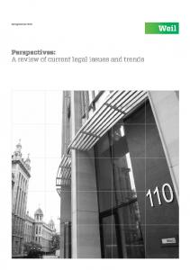 Summer Perspectives: A review of current legal issues and trends