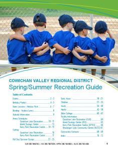 Summer Recreation Guide