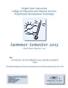 Summer Semester 2013