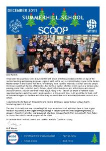 SUMMERHILL SCHOOL SCOOP